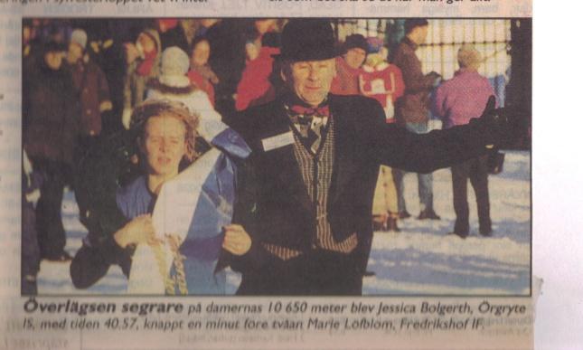 Damsegrare i Sylvesterloppet 1997 ur GT.