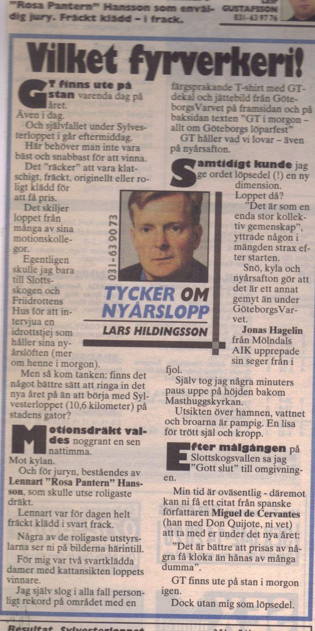 GT krönika om Sylvesterloppet 1997!