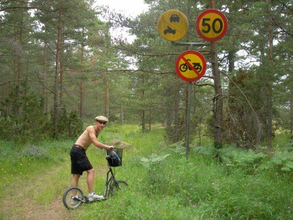 Gotland är platt och korsas av otaliga stigar!