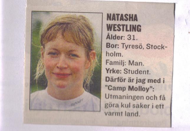 Camp Molloy Natasha ur Expressen