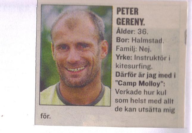 Camp Molloy Peter ur Expressen.