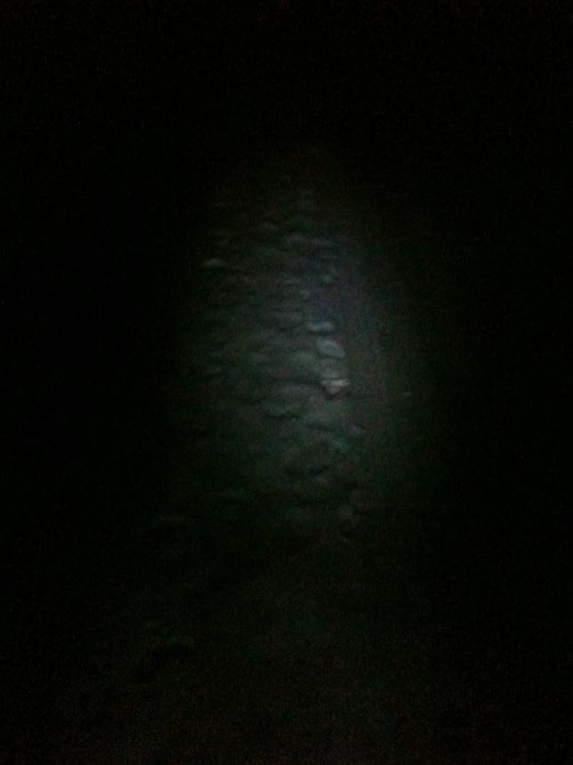 Lampa i mörker.