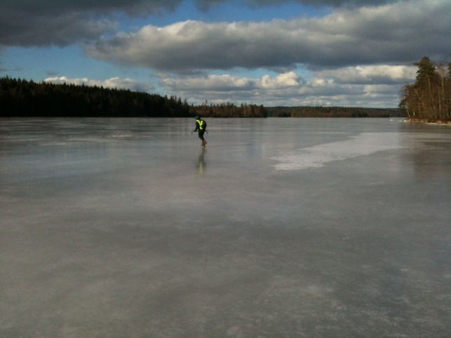 Skridsor på sjön Ömmern.