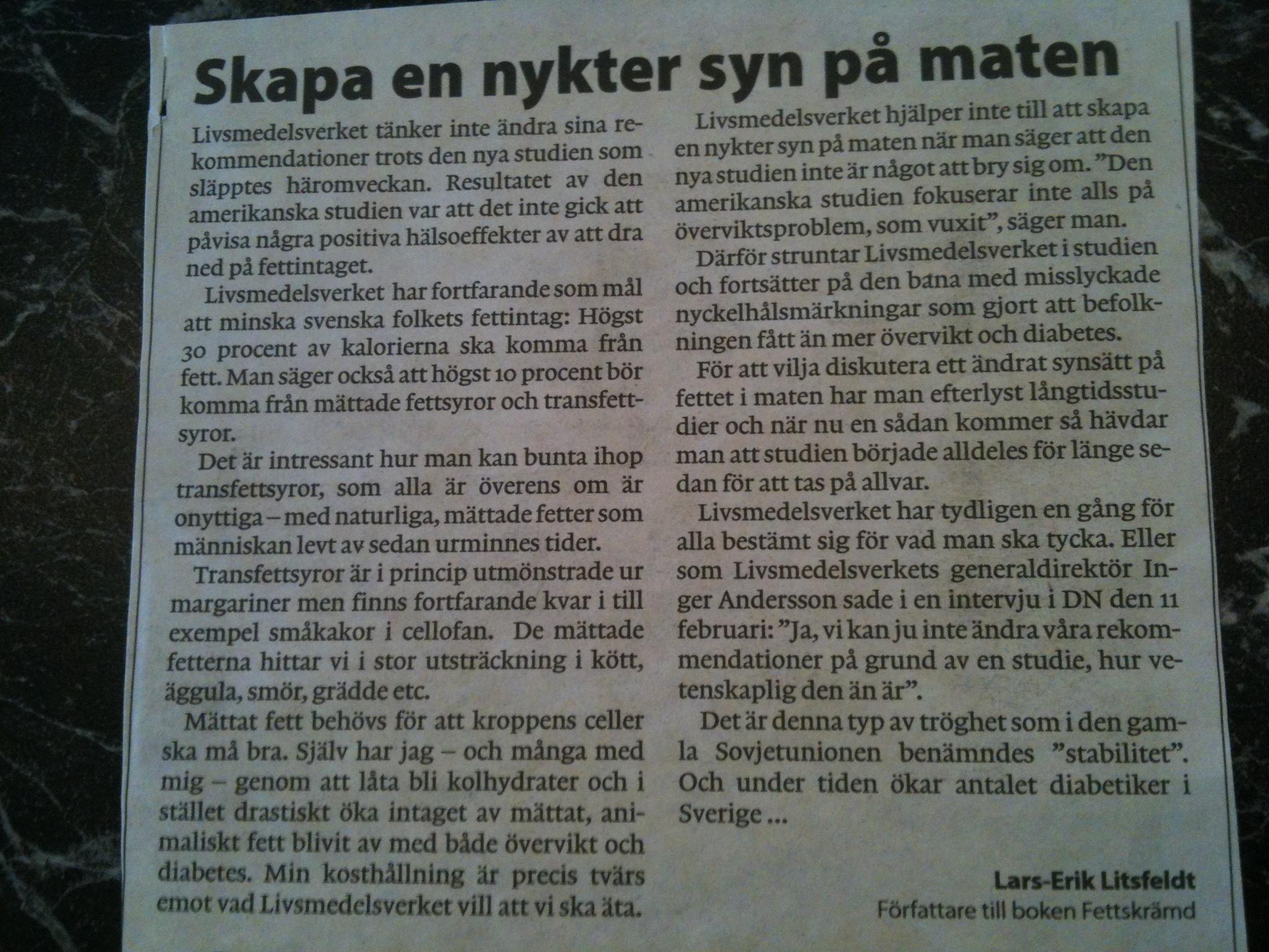 Insändare ur Göteborgs Posten.