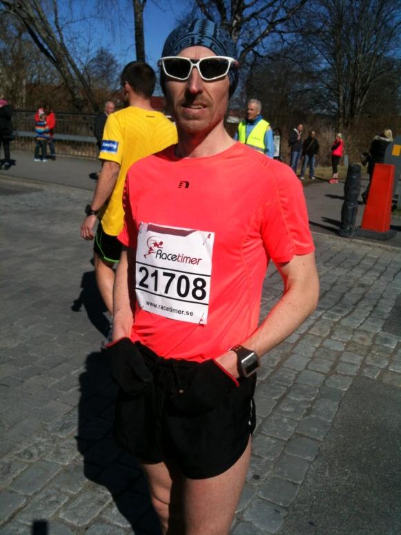 Segraren Patrik Gustavsson-Björkqvist innan loppet.