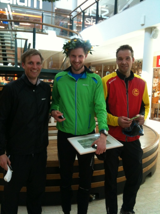 De tre första på 12 kilometers loppet i Kungsbacka.