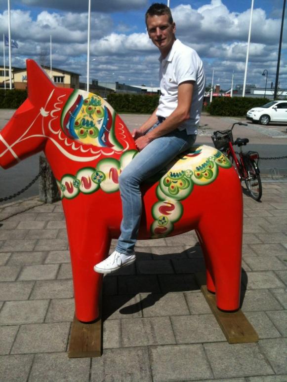 Daniel d.mellersta hittade en dalahäst i Vansbro!