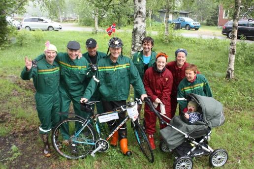 Samlade laget inför starten i Steinfjellstafetten