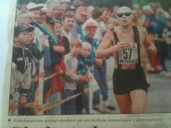 Solastafetten drabbades av en tragisk dödsolycka, ur Västerbottens Kuriren.