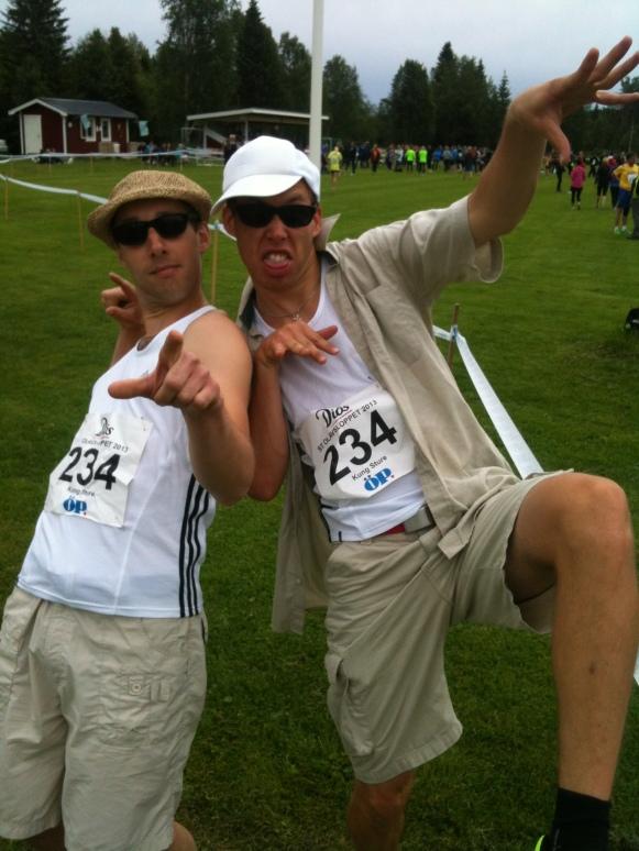 Seriösa löpare i laget Kung Sture