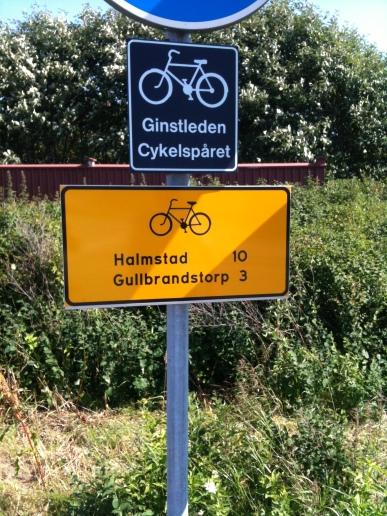Hur långt är det kvar till Halmstad på Ginstleden?