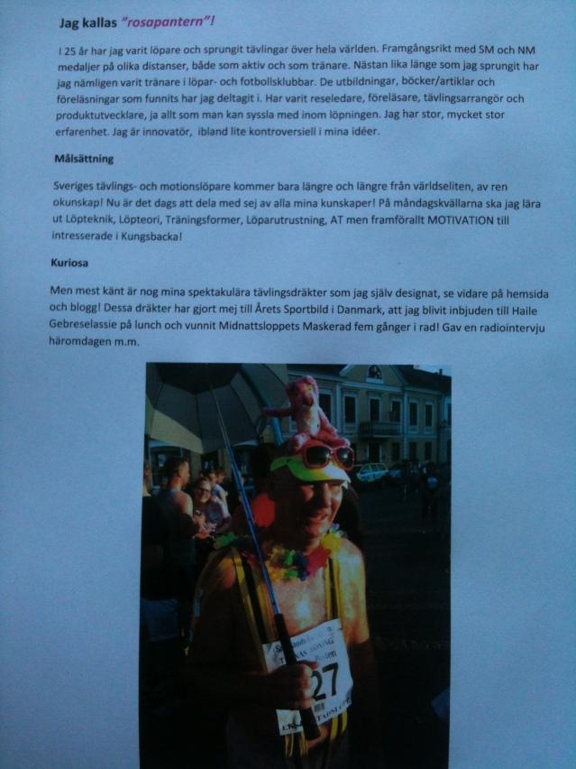 Programförklaring av löparkvällarna