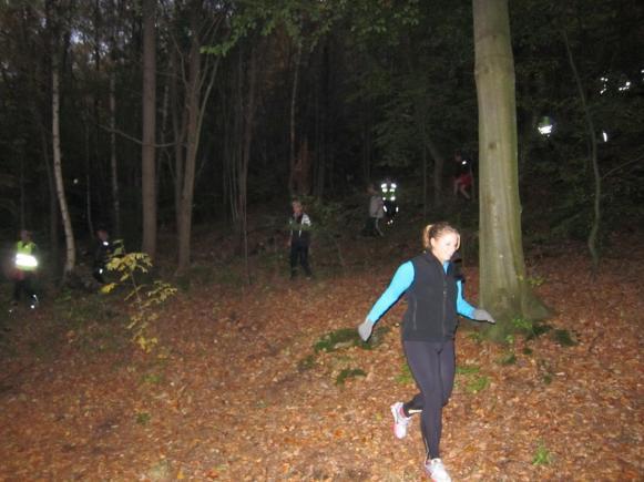 Hösten kommer även till skogsbackarna.....