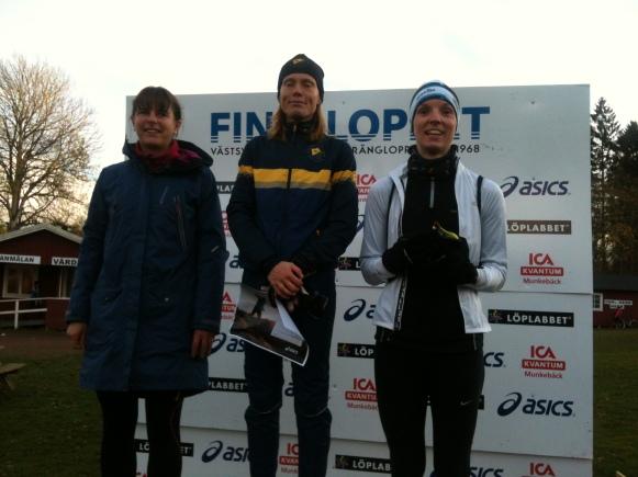 De tre bästa damerna på 19 kilometer ......