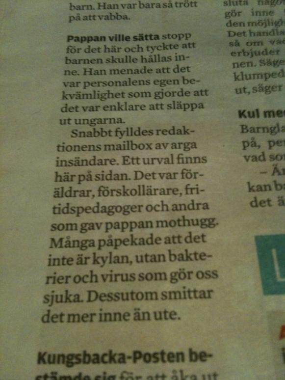 Ur dagens Kungsbacka-Post,