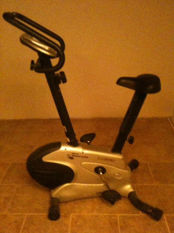 Motionscykel är bra när det är