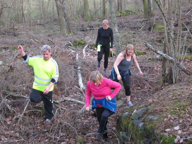 Jobba med hela kroppen i skogen! foto Jonte