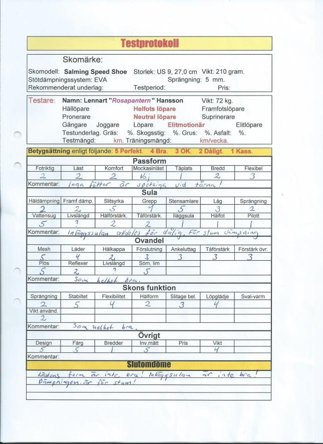 Löpskotest: Salming Speed Shoe