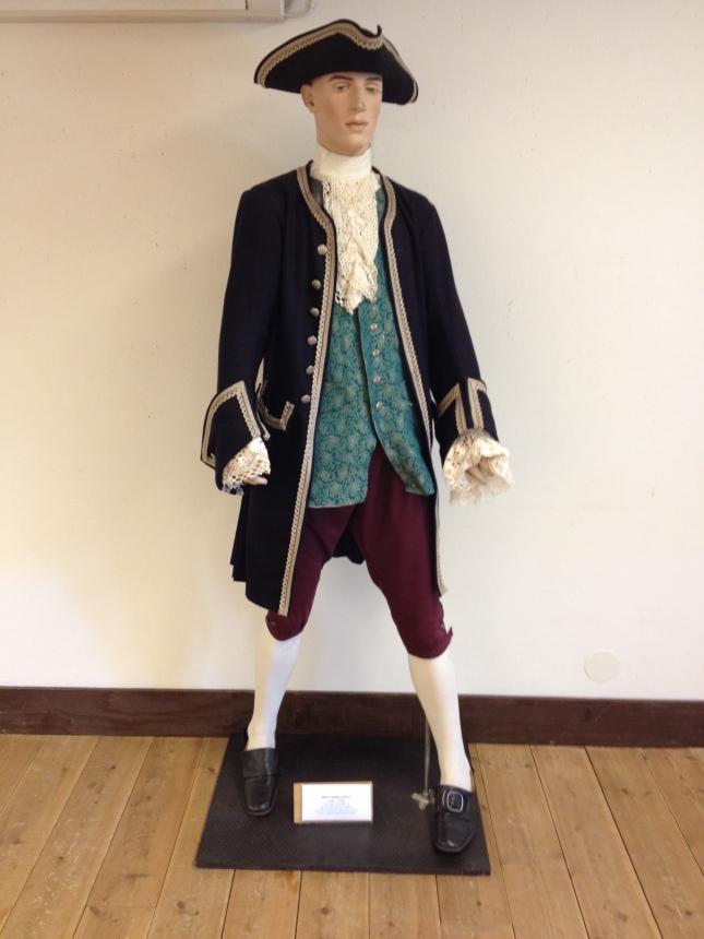 Kapten från 1700-talet! Onsala Sjöfartsmuseum.
