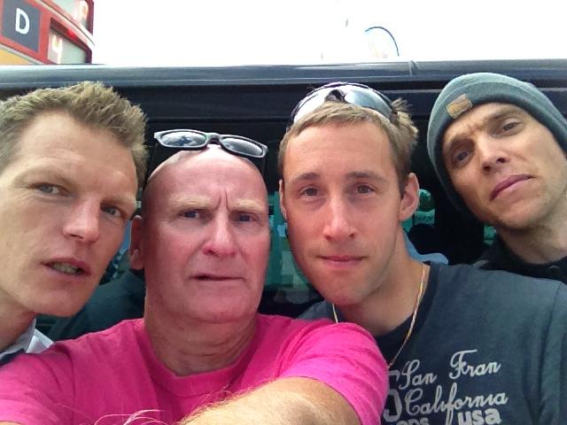 Daniel, jag, Eskil och Anders tankade i Sveg.