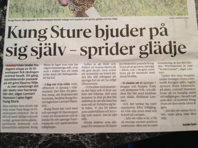 Ur gårdagens Östersunds Posten!