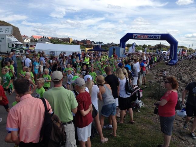 Mycket publik och många löpare!