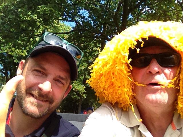 Selfie under Falkenbergs Stadslopp!