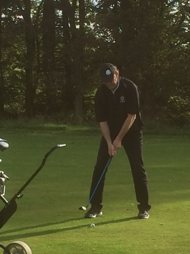 Golf är ett annat intresse! foto fru Svensson.