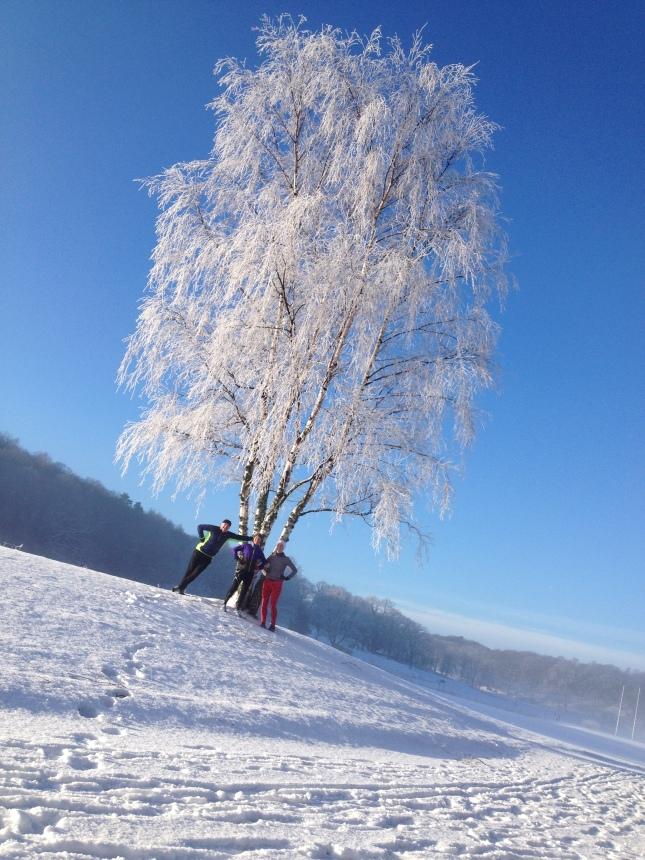 En fantastisk dag på golfbanan - springandes! foto Pia Olsson.