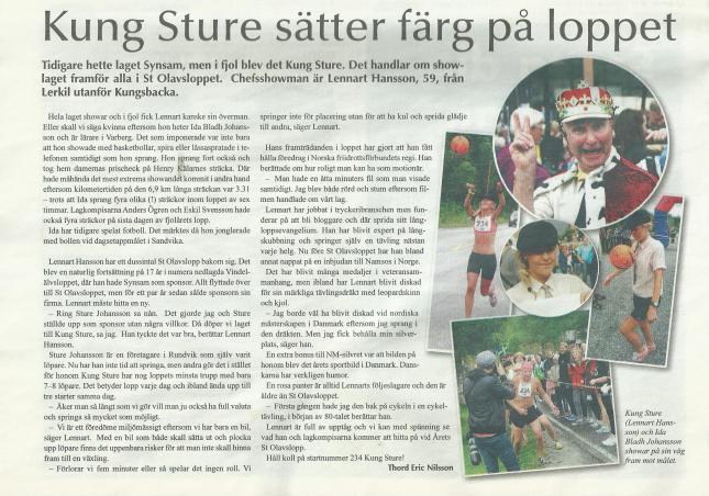 Information från St Olavsloppet, fortsättning!