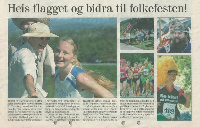 Programbladet vid 20-års Jubileet 2007. Tomas i grön dräkt, Annika i gult hår och lagledaren i Tropikhatt!
