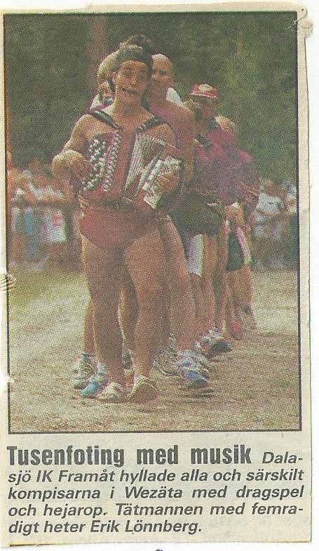 Då bilden togs hette vi Wezäta, senare Göteborgarna! Från tidningen LAND.