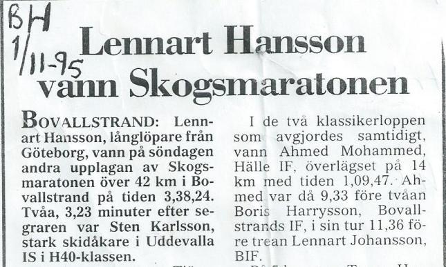 Del av artikel om Skogsmaran i Bovallsstrand ur Bohuslänningen!