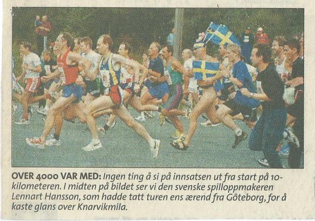 Starten har gått! Från norsk tidning.