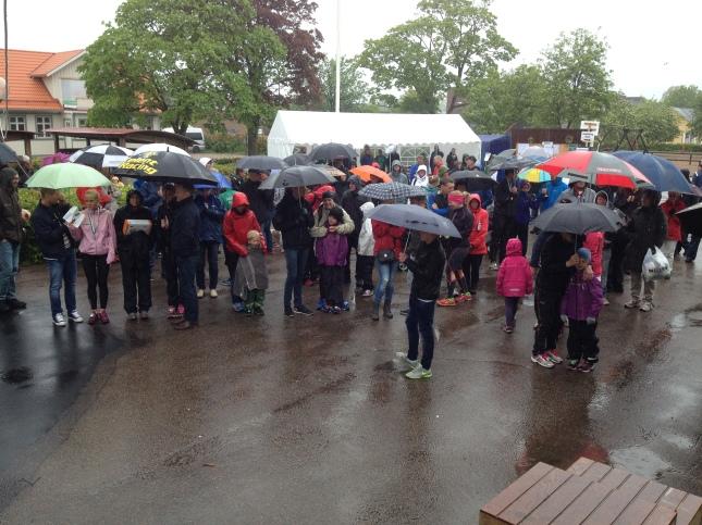 Det finns inget dåligt väder, bara dåliga .... paraplyer!