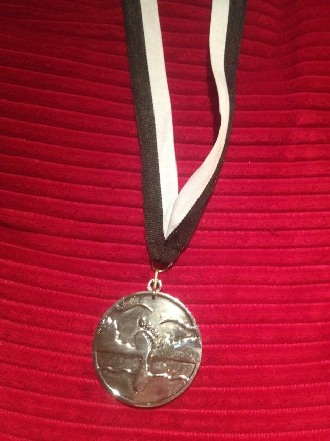 Fin medalj även om jag inte var värd den!