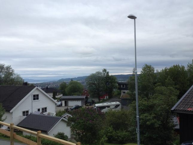 Utsikt över Trondheim från Byåsen!
