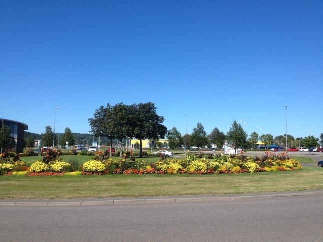 Sveriges vackraste rundbana (cirkulationsplats) är det denna i Kungsbacka?
