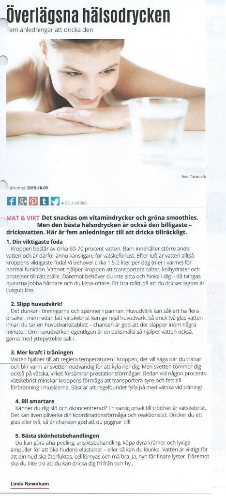 Detta har skrivits i Aftonbladet: hälsa!