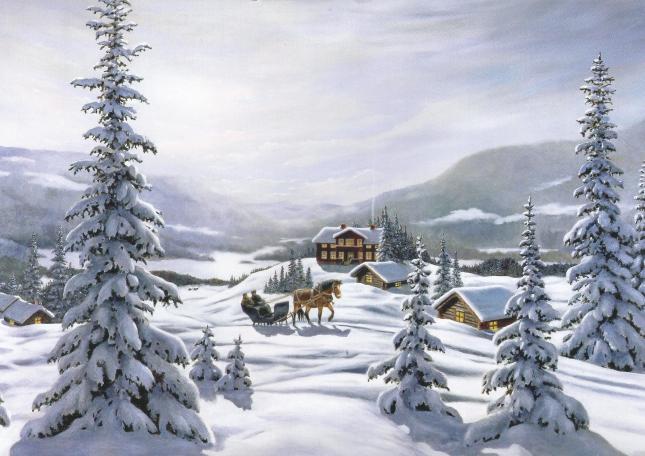 Janne Bergerlinds egentecknade (!) julkort i A4 format, som jag nyss fått!